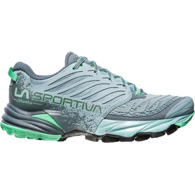 La Sportiva Akasha Running Shoes Women Stone Blue/Jade Green